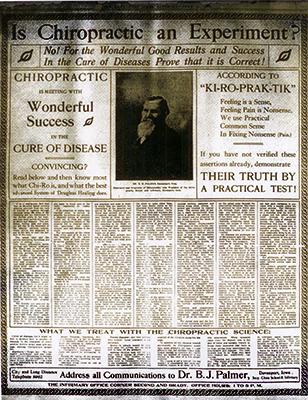 DD Palmer chiropractic 1902