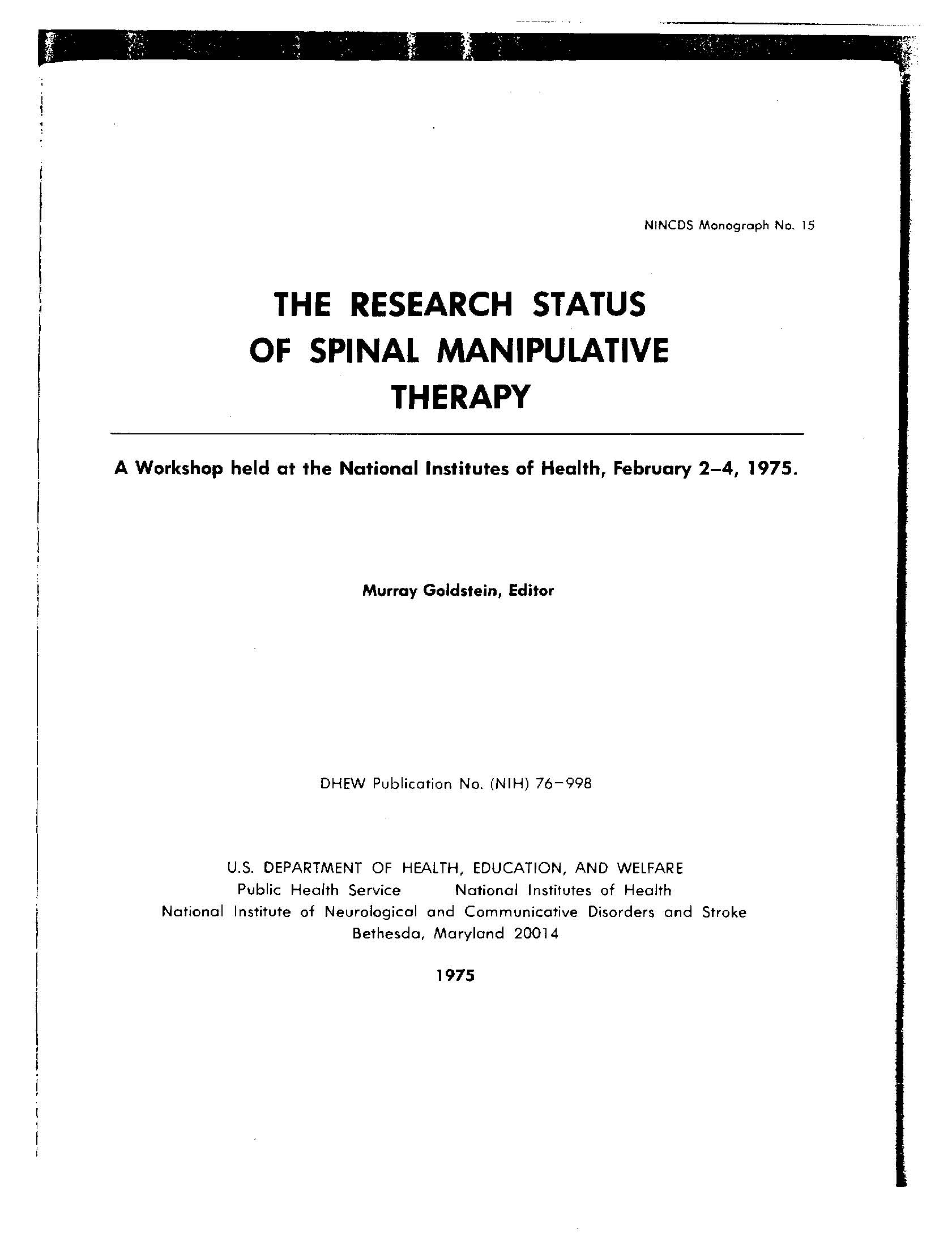 NIH Conference 1975